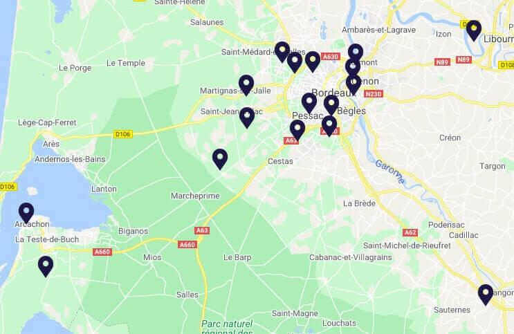 ads-assainissement-débouchage-canalisation-bac-à-graisse Bordeaux map